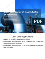 Upstream Activity of Gas Industry in Indonesia