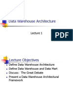 Data Warehouse Architecture Lecture 1