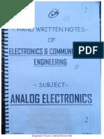 Notes on analog electronics
