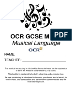 OCR GCSE Musical Language (TES)