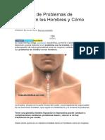 Síntomas de Problemas de Tiroides en Los Hombres y Cómo Tratarlos