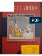 Sacred Sound Experiencing Music in World's Religions