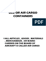 Uld or Air Cargo Containers