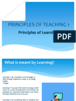 Principles of Teaching 1 - Principles of Learning