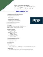 Ridoline C 72 Msds-p