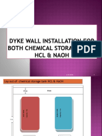 FY 19_20 Mangment Program _ Dyke Wall Instalation for Chemical Tank.