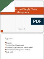 S 27 Logistics and Supply Chain Mangement