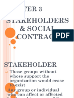 CHAPTER 3 STAKEHOLDER AND SOCIAL CONTRACT