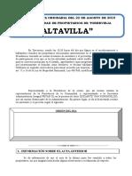 Acta Altavilla 2019