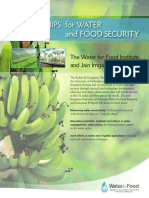 PARTNERSHIPS for WATER and FOOD SECURITY