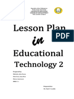 Lesson Plan in Educational Technology