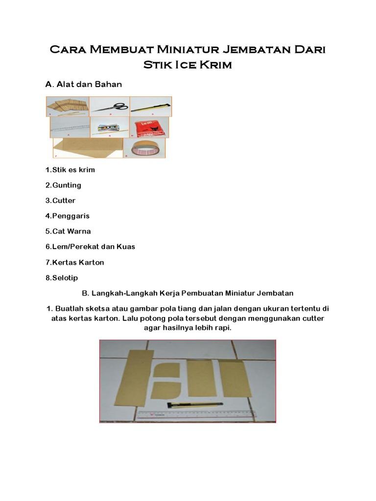 Cara Membuat Miniatur Jembatan Dari Stik Ice Krim