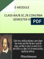 Shakespeare's Sonnet