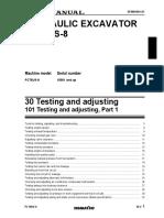 PC78US-8 Testing and Adjusting