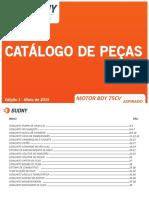 Catálogo de peças BDY7540 Aspirado