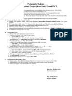 Petunjuk Teknis Penyusunan Soal PAS 17-18