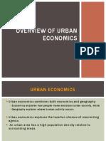 Overview of Urban Economics
