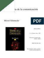 Schmucler, Memoria de la Comunicación