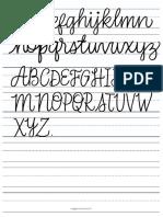 Lettering. Practica de alfabetos.