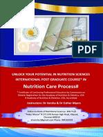 UNLOCK YOUR POTENTIAL IN NUTRITION SCIENCES