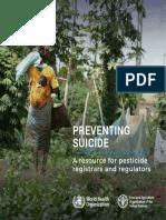 PREVENTING SUICIDE A resource for pesticide  registrars and regulators (OMS)