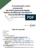 Manual de cierre SGR