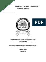 Cp Lab 1 Manual 2009-Srit