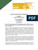 GPG DB Labour Law Pakistan