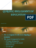 Quranic Philosophy of Education