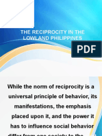 The Reciprocity in the Lowland Philippines
