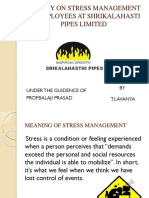 A Study on Stress Management[1][1] - Copy
