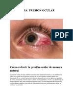 Glaucoma y Presion Ocular
