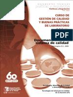 Curso de Gestion de Calidad y Bpl - Documentacion Del Sistema de Calidad