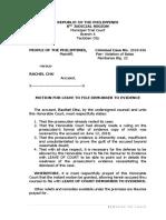 Motion for Leave to File Demurrer