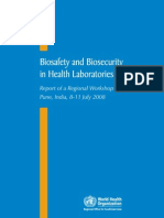 Who Searo Biosafety in Lab- 2008- Bct Reports Sea-hlm-398