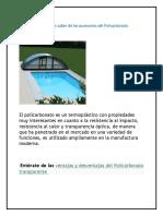 MEDIDAS POLICARBONATO