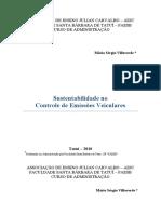 Sustentabilidade no controle de emissões veiculares