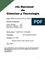 INFORME TECNICO Empaquetadora Vertical Con PLC
