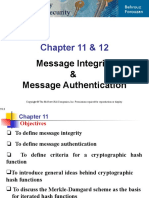 Message Integrity and Authentication