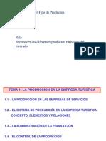 2.3 PRODUCCION EN LA EMPRESA TURISTICA.ppt