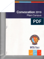 Convocation Booklet 2019