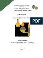 Balance de Materia y Energia Monografia