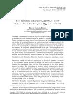 Ecos hesiódicos en Eurípides