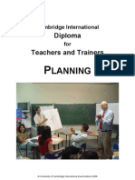 Diploma for Teachers and Trainers Planning Booklet June 08