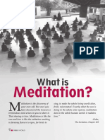 13 What is Meditation