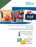 Indian Hme Textiles Market Potential 2016-2020 - Details