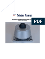 Rubber Design RD-series Conical Mountings Installation and Maintenance Instructions