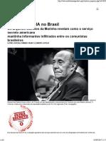(Artigo) as Ações Da CIA No Brasil