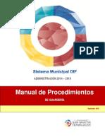 Manual Procedimientos Guardería