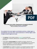 Régimen Empresarial y Laboral en Colombia